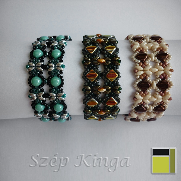 Pattern 887/1123 Keramit bracelet - with variations