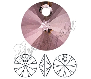Swarovski Xilion pendant 8mm, antique pink - 1db