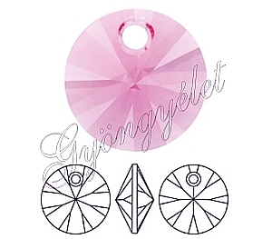 Swarovski Xilion pendant 8mm, rose - 1db