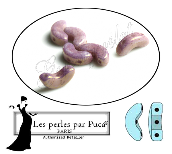 Arcos par Puca 03000/14496 opaque violet/gold ceramic look - 10