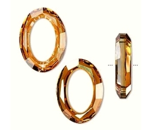 Swarovski cosmic oval 16mmx22mm crystal copper - 1db