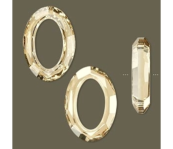 Swarovski cosmic oval 24mmx33mm crystal golden shadow - 1db