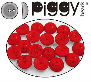 Piggy Bead 93180 Tűzpiros 4x8mm - 20 db