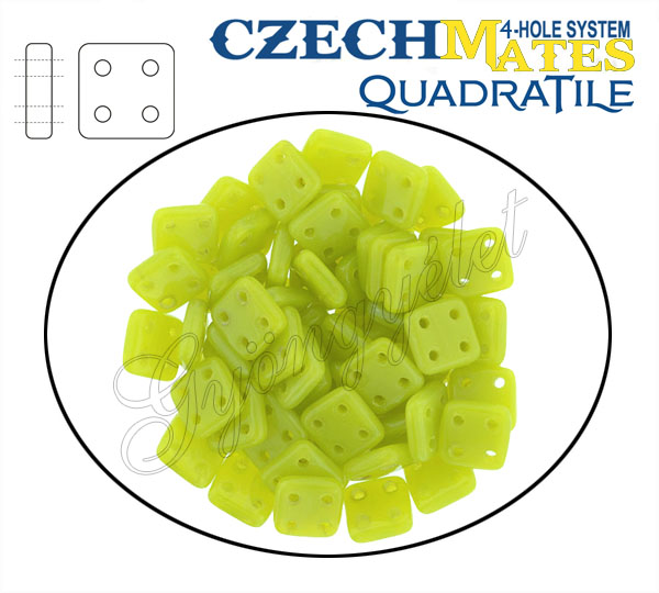 QuadraTile 84020 zöldszőlő, 6mm - 25 db