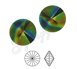 1122 Swarovski rivoli Rainbow Dark, 8mm - 1db
