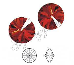 1122 Swarovski rivoli red magma, 8mm - 1db