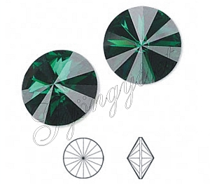 1122 Swarovski rivoli emerald, 14mm - 1db