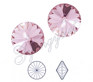 1122 Swarovski rivoli light rose, 8mm - 1db