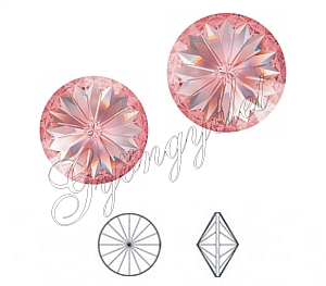 1122 Swarovski rivoli rose peach, 14mm - 1db