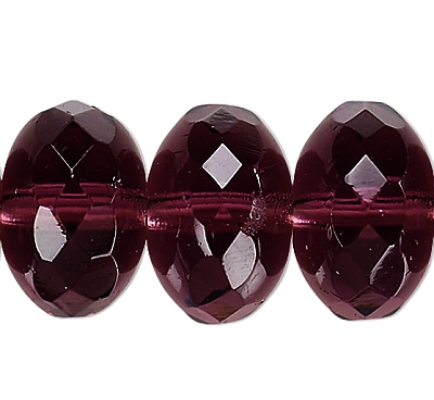 FP Rondella Dark Amethyst, 10x7mm - 10db