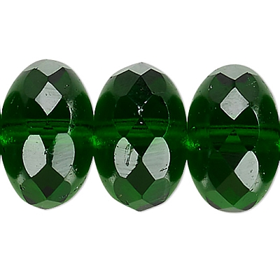 FP Rondella Dark Emerald, 10x7mm - 10db