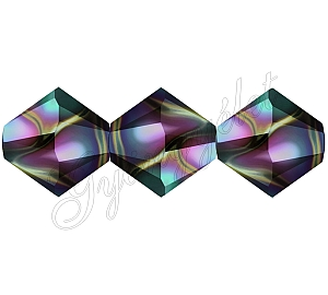 Swarovski Xilion 6mm Rainbow Dark - 1db